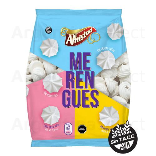 Merengues Blancos La Amistad x 100 gr. Sin TACC. Gluten-Free Meringue. Argentina Select.