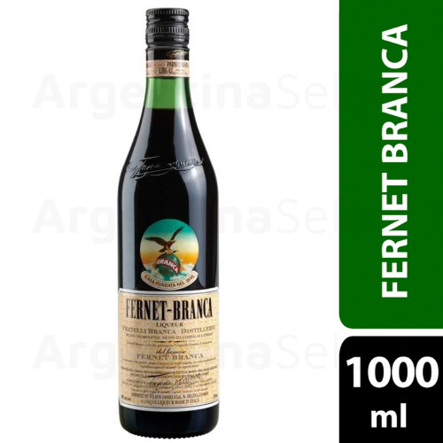 Fernet Branca Bitter Amaro Herbal Infusion Genuine Argentina Flavor Recipe - 1000 ml.