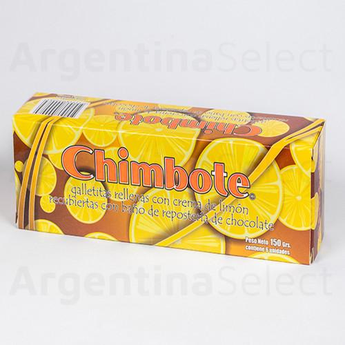 Chimbote Galletitas de Limón Bañadas en Chocolate, 150 g / 5.29 oz (Pack of 6). Argentina Select.