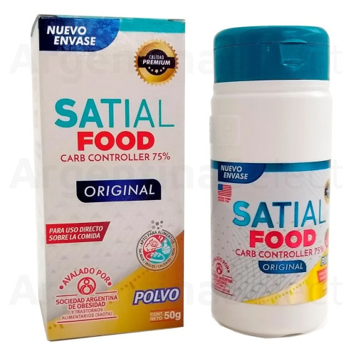 Satial Food Carb Controller Powder Dietary Supplement With Soy Protein & White Bean Extract Carb Blocker, 50 g / 1.76 oz. Argentina Select.