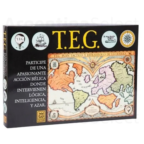 TEG Tradicional Juego de Mesa de Táctica y Estrategia. Argentina Select.