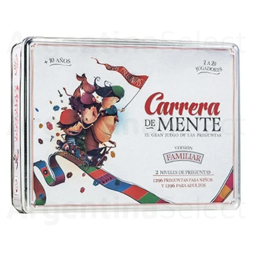 Carrera De Mente Juego de Mesa Familiar de Ruibal Edición Limitada en Lata. Argentina Select.