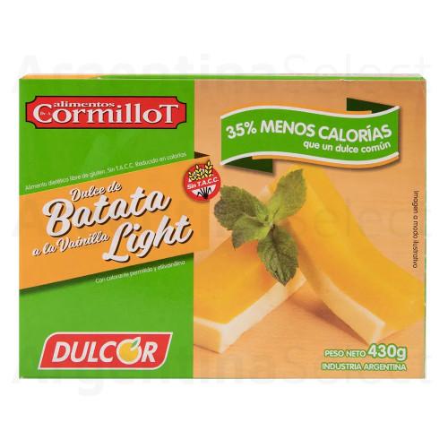 Dulcor Dulce de Batata Light 35% Menos Calorías, 430 g. / 15.16 oz (Cormillot). Argentina Select.