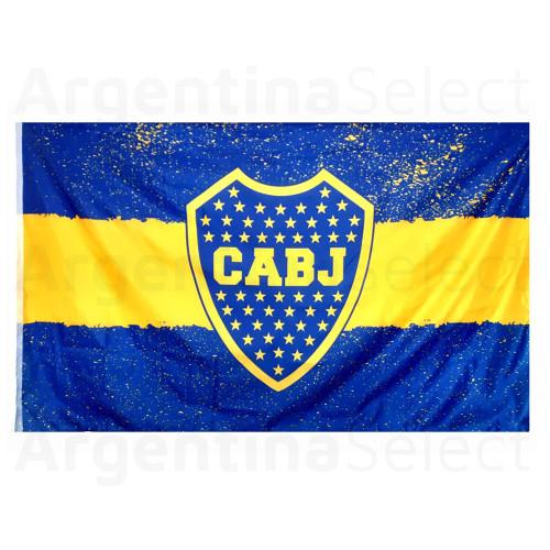 Bandera Grande Hinchada Boca Juniors Lic. Oficial 120cm x 194 cm. Argentina Select.