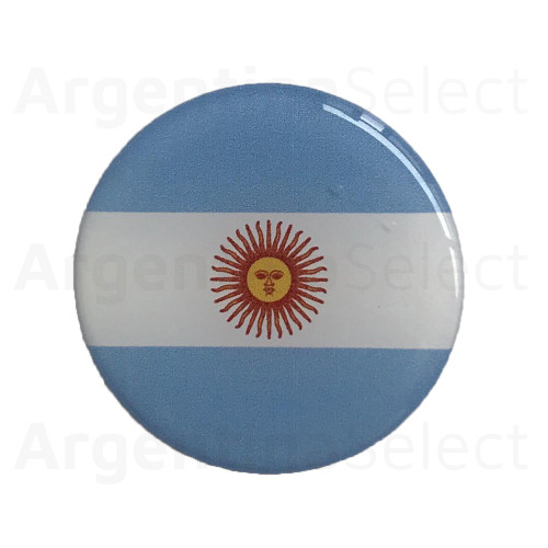 Sticker Calcomanía Resinada Circular de Argentina de 40mm. Argentina Select.
