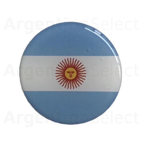 Sticker Calcomanía Resinada Circular de Argentina de 40mm. Argentina Select.