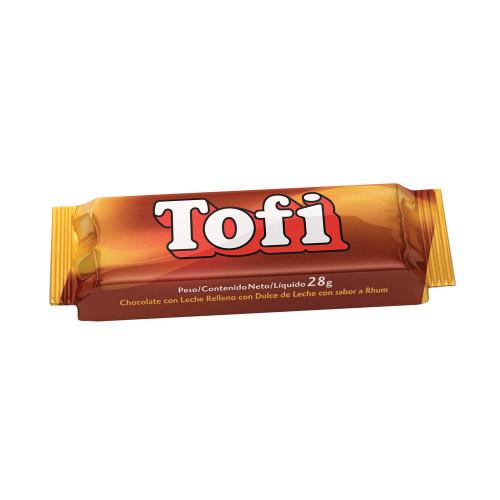 Tofi Bombón de Chocolate Relleno de Dulce de Leche, 28 g / 0.99 oz (Pack of 6). Argentina Select.