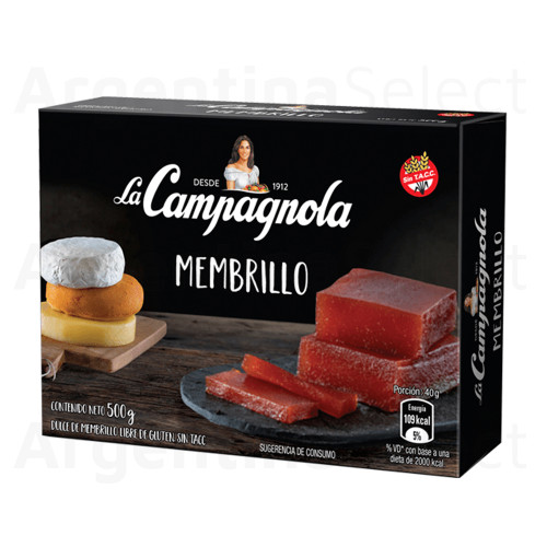 Campañola Dulce de Membrillo Quince Jelly Sealed Bar for Desserts, Cheese and Cakes, 500 g / 1.1 lb. Argentina Select.