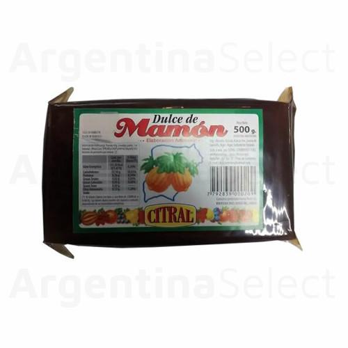 Citral Dulce de Mamón de Elaboración Artesanal, 500 g / 17.63 oz. Argentina Select.