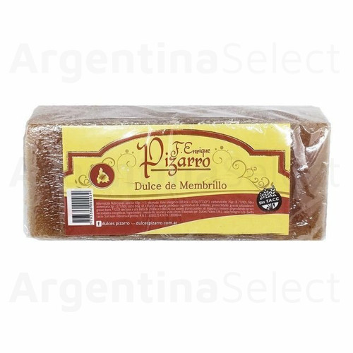 Pizarro Dulce de Membrillo Artesanal, 450 g / 15.87 oz Argentina Select.
