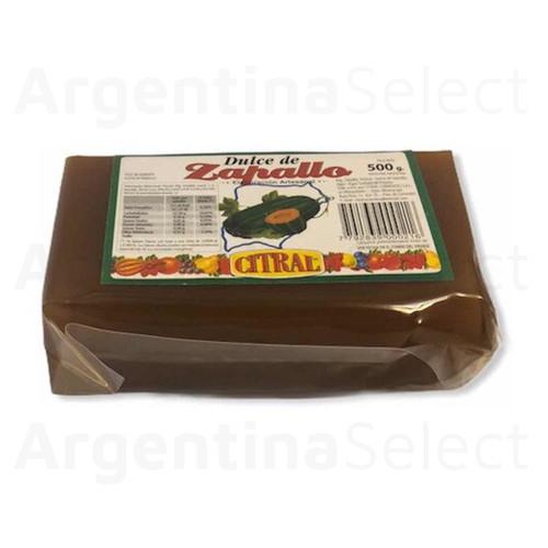 Citral Dulce de Zapallo de Elaboración Artesanal, 500 g / 17.63 oz. Argentina Select.