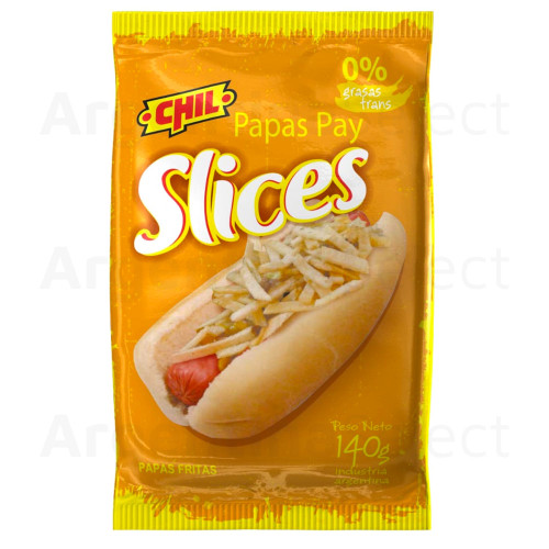 Chil Papas Pay Slices x 140 gr. Snack Potato Chips Argentina Select.