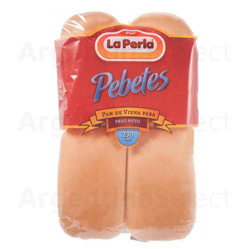 La Perla Pan de Viena - Pebete 230 gr. Bread. Sólo en Argentina Select.