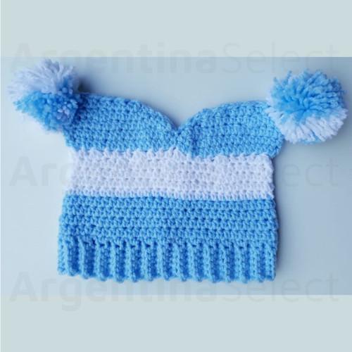 Sedonia Gorro Arlequín Tejido a Crochet Argentina Talle Único 40 cm. Argentina Select.