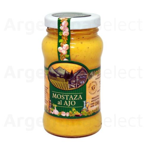 Granjas Patagónicas Mostaza al Ajo, 180 g / 6.35 oz. Argentina Select.
