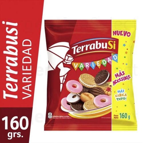 Galletitas Terrabusi Variedad Boca de Dama, Duquesa, Anillos & Melba, 160 g / 5.64 oz Bolsa. Argentina Select.