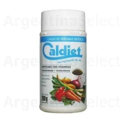 Caldiet Caldo de Verdura sin Sal en Polvo 200 g / 7.05 oz. Argentina Select.