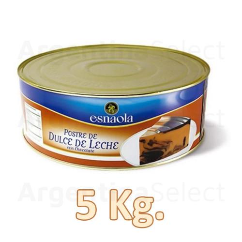 Esnaola Postre De Dulce De Leche Con Chocolate Lata 5 Kg. Gluten Free. Sólo en Argentina Select.