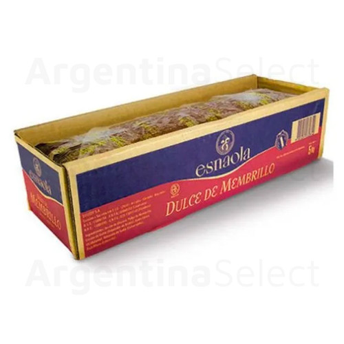 Esnaola Dulce De Membrillo 5 Kg. Cajon Reposteria Gluten Free. Sólo en Argentina Select.