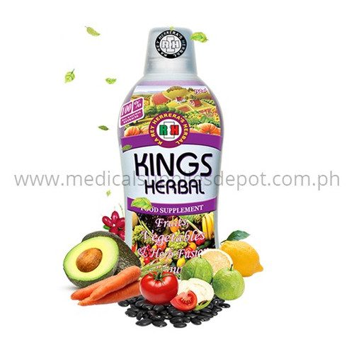 KING'S HERBAL FRUITS, VEGETABLES AND HERBS FUSION 750ML