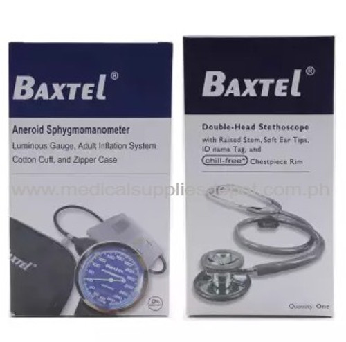 BAXTEL ANEROID SPHYGMOMANOMETER and STETHOSCOPE