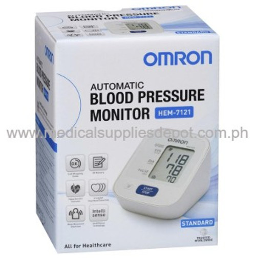 OMRON UPPER ARM BLOOD PRESSURE MONITOR MODEL: HEM-7121