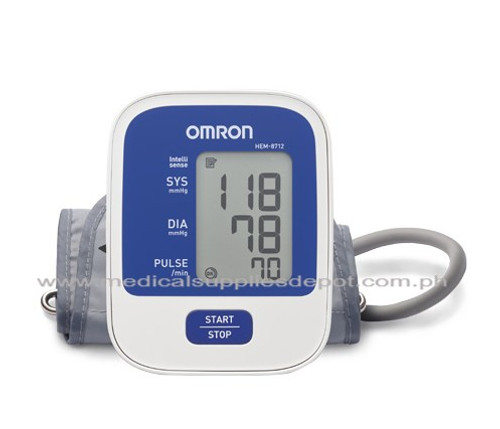 OMRON UPPER ARM BLOOD PRESSURE MONITOR MODEL: HEM-8712