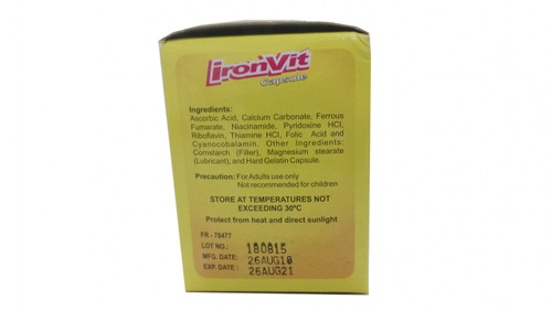 IRONVIT CAPSULE VITAMINS + IRON FOOD SUPPLEMENT