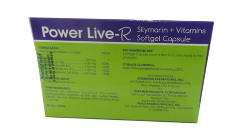 POWER LIVE-R SILYMARIN + VITAMINS SOFTGEL CAPSULE