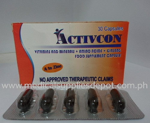 ACTIVCON VITAMINS & MINERALS + AMINO ACID + GINSENG FOOD SUPPLEMENT CAPSULE