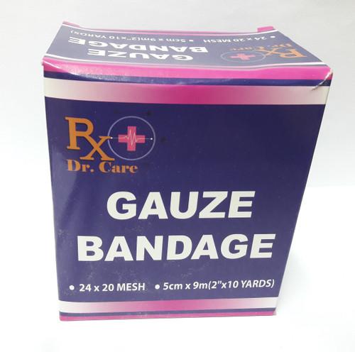 """GAUZE ROLL BANDAGE 2""""X 10Y"""