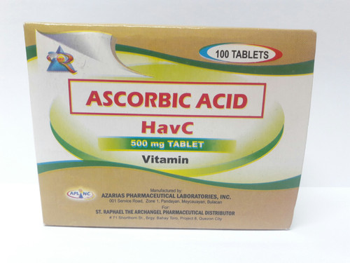 HAVC ASCORBIC ACID VITAMINS C 500MG TABLET (100 PCS/BOX)