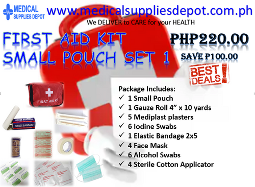 FIRST AID KIT SET 1 (CONTENTS INCLUDED)