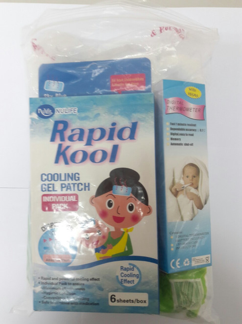 FAMILY BUNDLE SET 1 (COTTON, THERMOMETER, FEVER PATCH)
