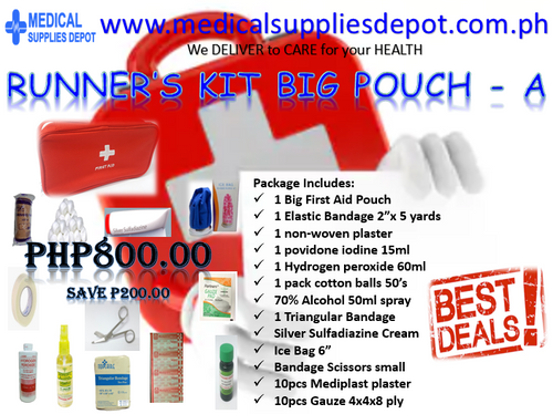 RUNNER'S FIRST AID KIT BIG POUCH - A