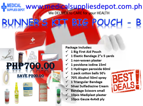 RUNNER'S FIRST AID KIT BIG POUCH - B