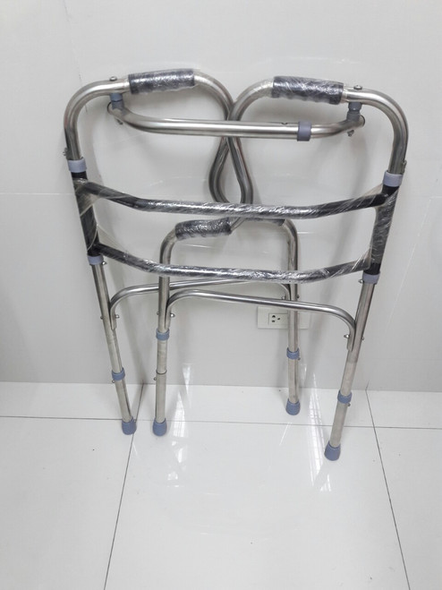 ADJUSTABLE STAINLESS STEEL WALKER