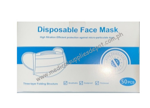 FACEMASK 3-PLY 50 PIECES PER BOX
