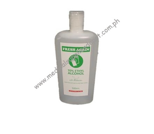 FRESH AGAIN 70% ETHYL ALCOHOL 500ML