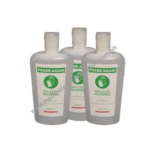 FRESH AGAIN 70% ETHYL ALCOHOL 500ML SETS OF 3