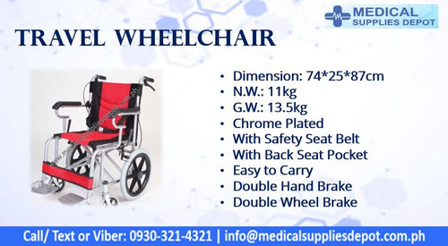 CHROME-PLATED TRAVEL WHEELCHAIR MODEL:TX-YPD29