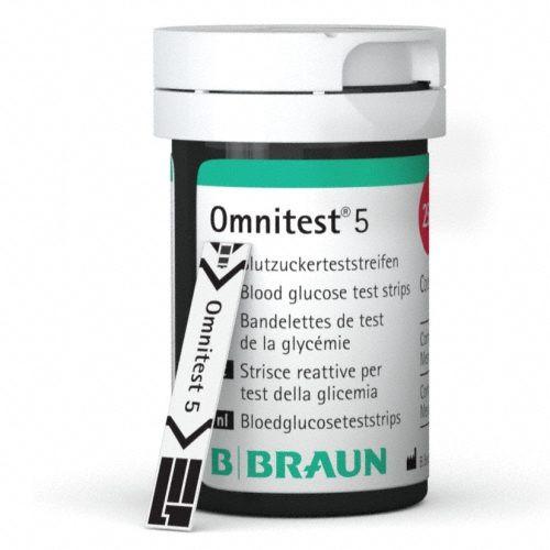 OMNITEST® 5 GLUCOSE STRIPS 25'S