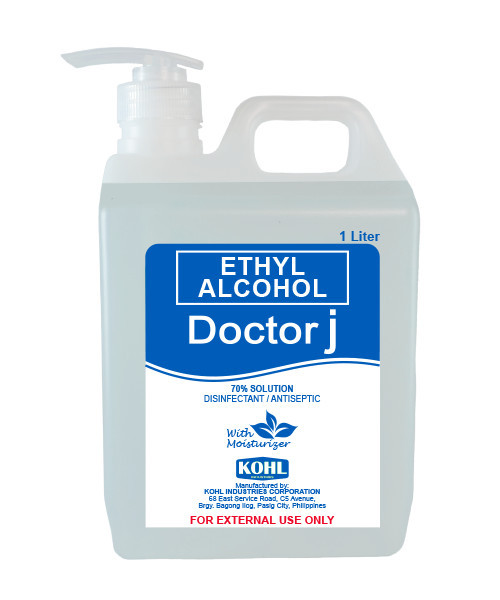 DOCTOR J 70% ETHYL ALCOHOL WITH PUMP (500ML / 1000ML)