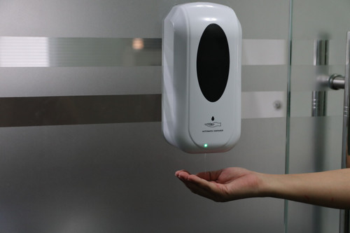 AUTOMATIC ALCOHOL AND SOAP DISPENSER WITH STAND