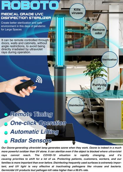 ROBOTO MEDICAL GRADE UVC DISINFECTION STERILIZER