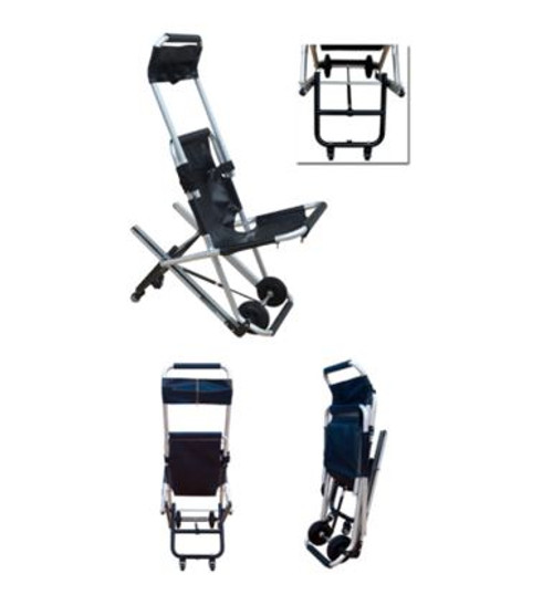 MEDICAL EMERGENCY RESCUE ALUMINUM ALLOY FOLDING STAIR EVACUATION CHAIR STRETCHER