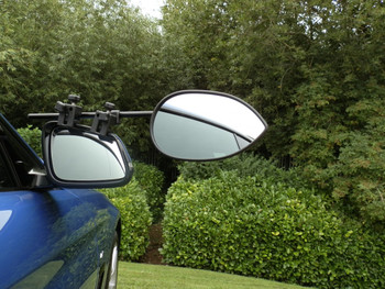 Milenco Aero3 Towing Mirrors (Flat or Convex Glass) - FREE Storage/Carry Bag
