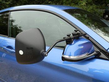 Milenco Grand Aero 3  Towing Mirrors (Flat Glass) - FREE Storage/Carry Bag