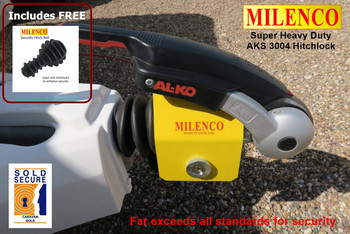 Milenco Super Heavy Duty AKS 3004 Hitchlock - Exceeds all standards for security