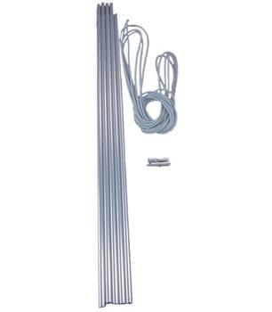Vango Alloy Pole Repair Pack - 60cm x 9.5mm diam. (5 Sections)